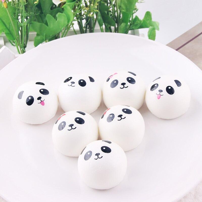20Pcs/Set Anti-stress Soft 4cm Squishies Panda Cute Squishy Set Jumbo Bear Slow Rising Anti Stress Squish Toy For Kids Gifts