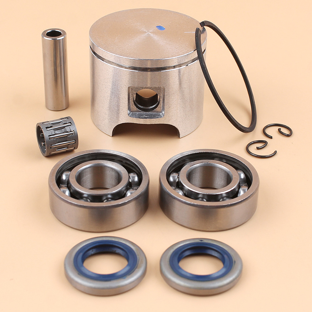 46MM Piston Ring Clip Crankshaft Needle Bearing Oil Seal Kit For HUSQVARNA 55, 55 Rancher, 55 EPA Chainsaw Parts #503608171