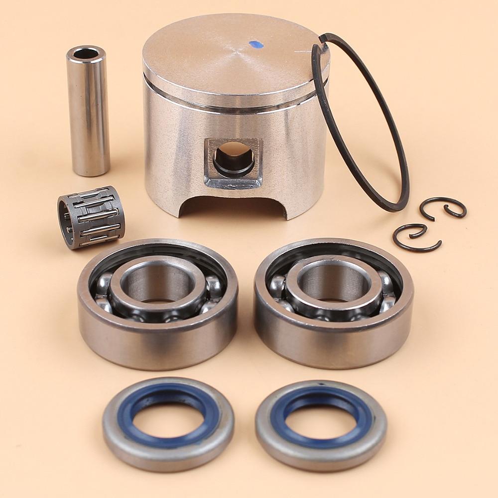 46MM Piston Ring Clip Crankshaft Needle Bearing Oil Seal Kit For HUSQVARNA 55, 55 Rancher, 55 EPA Chainsaw Parts #503608171