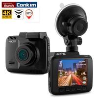 Conkim Dash Cam Novatek 96660 Wifi Auto Camera GPS Tracker 4 K Ultra HD 2880*2160 P Nachtzicht Auto DVR 150 Graden Hoek Lens H40