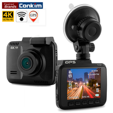 Conkim регистраторы Новатэк 96660 Wifi автомобиля Камера gps трекер 4 К Ultra HD 2880*2160 P Ночное видение Видеорегистраторы для автомобилей 150 градусов объектив H40