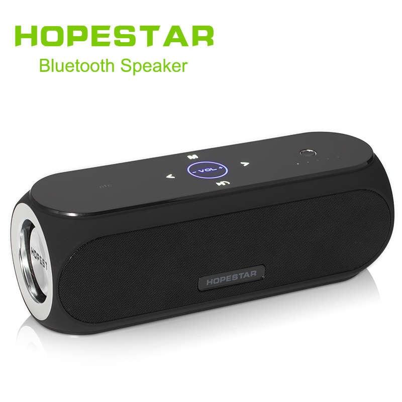 купить HOPESTAR Portable Column Bluetooth Speakers Bass Effect Power Bank Music Player Loudspeaker For Cellphone iPhone Xiomi Computer по цене 3956.53 рублей