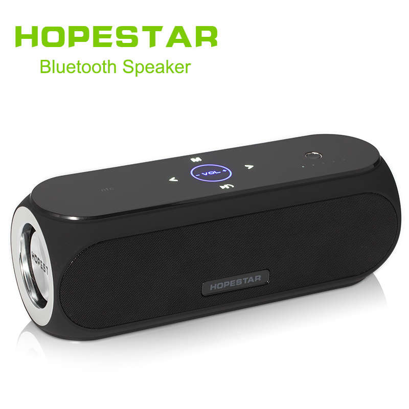 HOPESTAR Wireless Bluetooth Portable Speaker Outdoor Stereo Vinyls Bass Effect Power Bank For Mobile Phone iPhone Xiaomi NFC wireless bluetooth speaker cute mushroom waterproof sucker mini bluetooth speaker audio outdoor portable bracket for xiaomi ipad