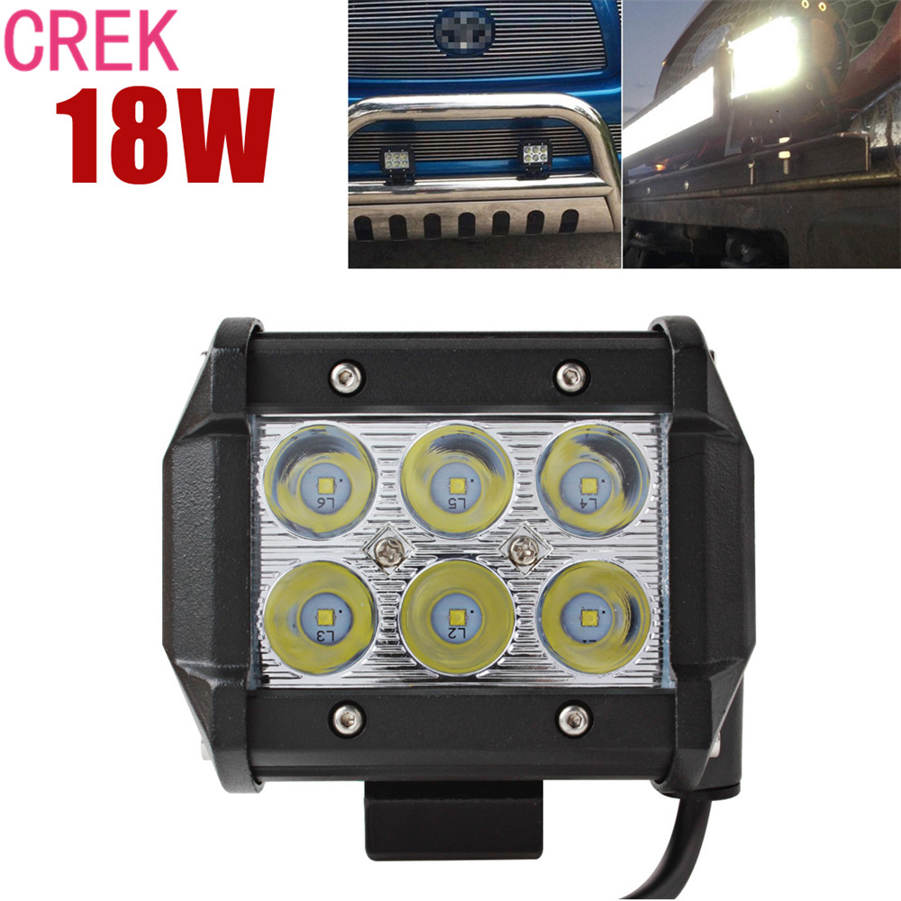 CREK New 1440LM 18W LED Car Work Light Super Power Waterproof For Motorcycle / Tractor / Boat / 4WD Offroad / SUV / ATV