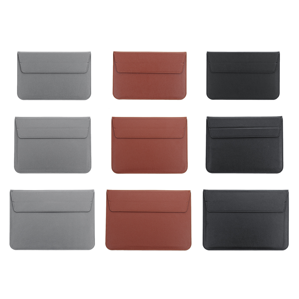 3 Color Leather Sleeve Case Laptop Bag Tablet Bag With Stand Holder For 12/13.3/15.4 Lap ...