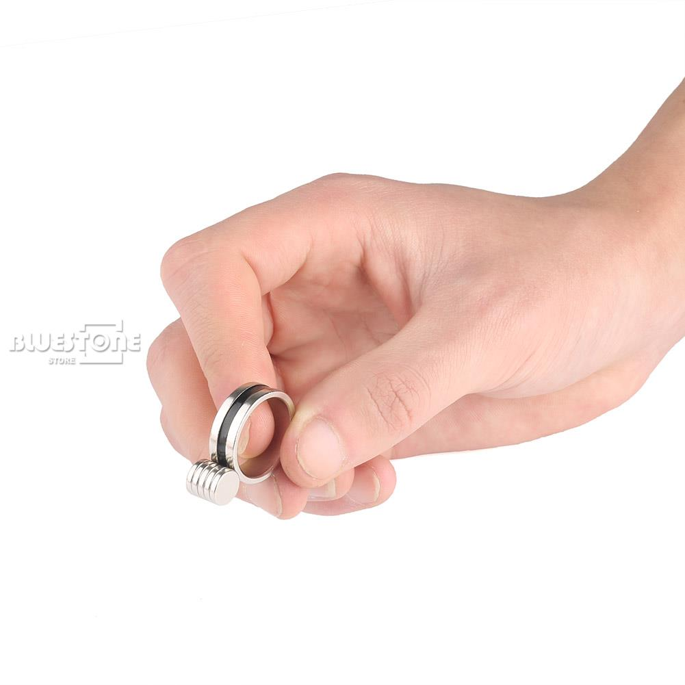 Cool Strong Magnetic Ring PK Magic Tricks Pro Magic Props Ring Mythical Props ...