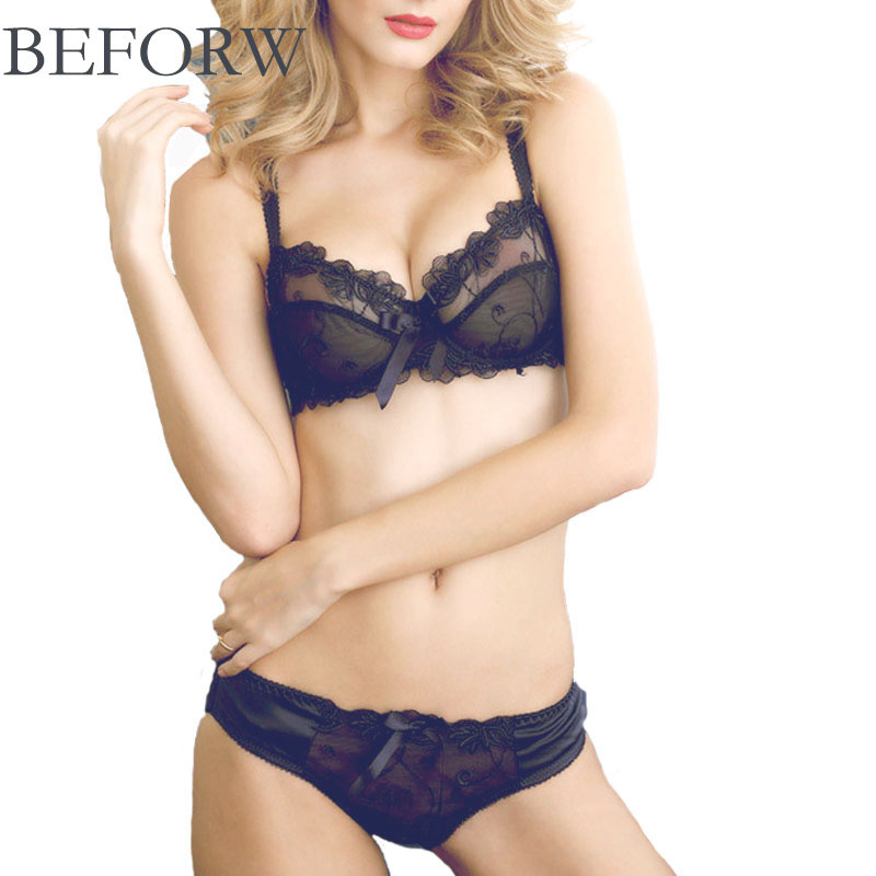 BEFORW High Quality Embroidery Women Bra Sets Sexy ...