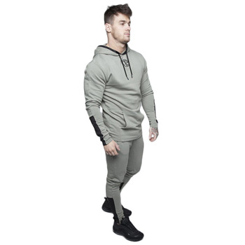 2019 Sportswear Men Sets Running Gym Tracksuit Fitness Body building Mens Hoodies+Pants Jogger Sport Suit Men Clothing Set