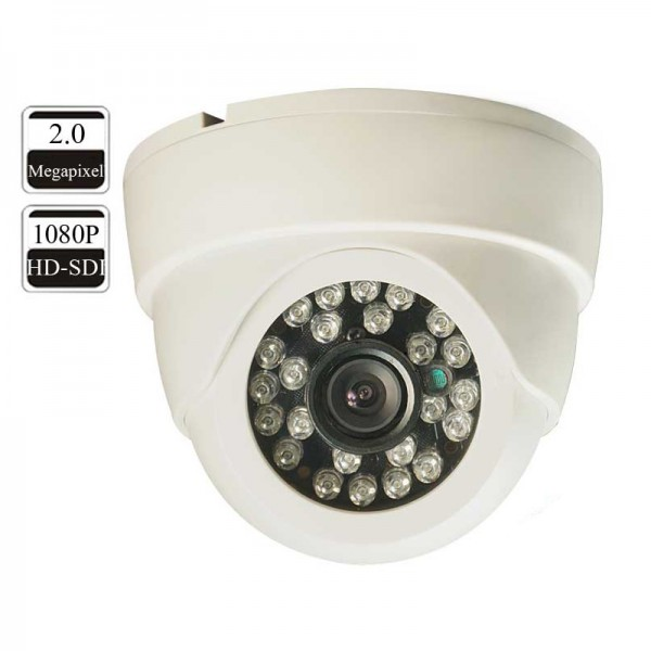 HD Security Surveillance SDI Dome Camera 1080P Plastic 3.6mm