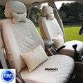 Cubierta de asiento de coche Universal Para Fait Panda Punto EVO Linea Sedici Viaggio Bravo Ottimo Coroma Freemont negro/beige coche accesorios