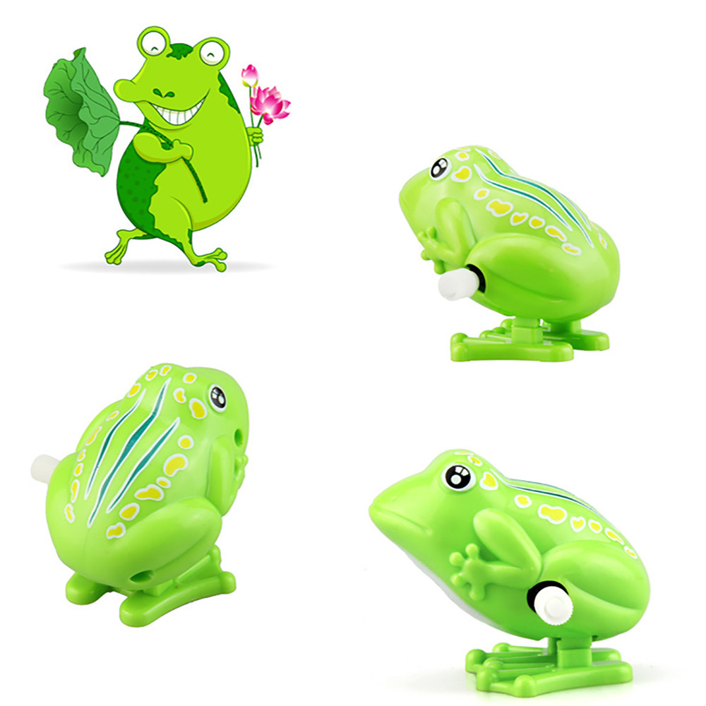 1pc Popular Kids Wind Up Clockwork Toy Mini Cute Jumping Frog Baby Toys Pull Back Wind Up Toys     5.17