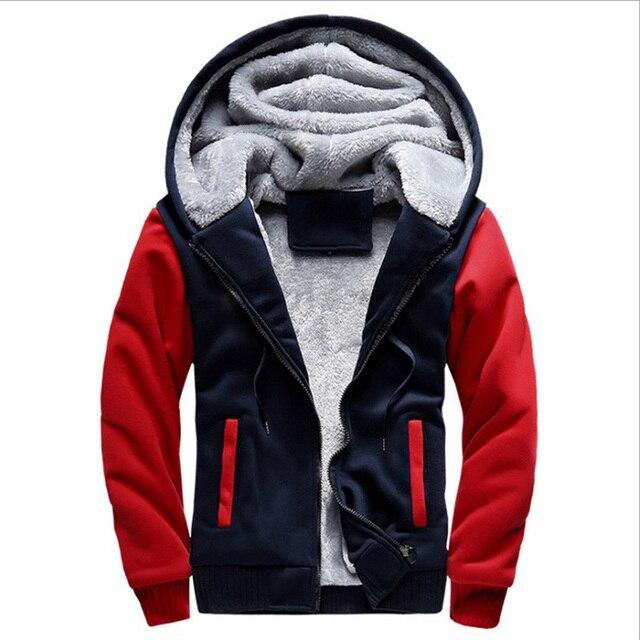 2020 New Men Hoodies Winter Warm Zipper Men Hoodies  2