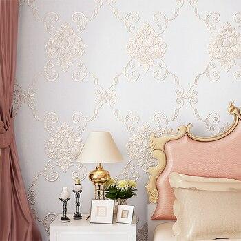цена на 3d luxury European garden bedroom wedding room wallpapers Korean warm romantic non-woven living room TV background wall paper