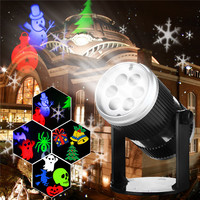 Halloween Sparkling LED Laser Projector Light Home Garden Outdoor Christmas Tree Snow Xmas Holiday Shower Lighting