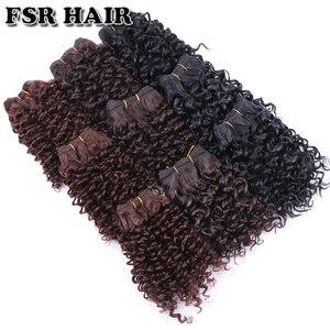 Image 5 - FSR syntetyczne doczepiane włosy krótkie perwersyjne kręcone włosy tkackie 6 części/partia 210g produkt do włosów