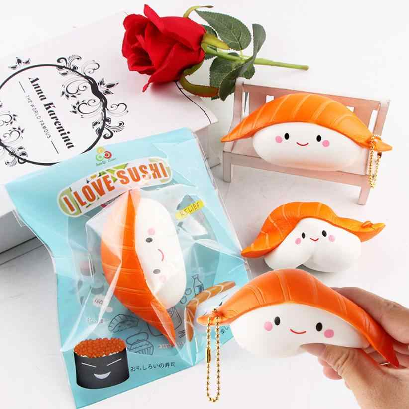 Sushi Scented skuishy Slow Rising Fun Toy Relieve Stress Cure Gift  Lovely Fun Kids Kawaii kids Adult Toy Stress Reliever Decor