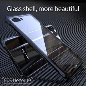 Image 5 - Для huawei Honor 10 защитный чехол самолета Бампер металлический винт сотовый телефон чехол для Honor10 с прозрачной задней закаленное Стекло