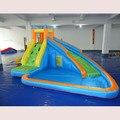 Uso de la familia de venta tobogán inflable piscina al aire libre para los niños