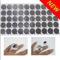 New Arrival,Disposable Eyelash Glue Holder,One Time Eyelash Adhesive Glue Pallet,New Eyelash Silver Glue Ring,50pcs freeshipping