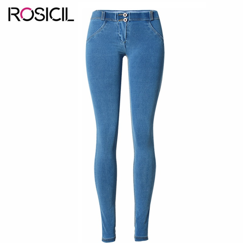 Fashion Woman Skinny Low Waist Jeans Fems