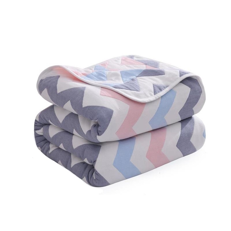 Multi-use Baby Blanket Six Layer Cotton Quilt Newborn Swaddle Wrap Breathable Moisture Sleep Blanket Sofa Rest Blanket Nap Quilt