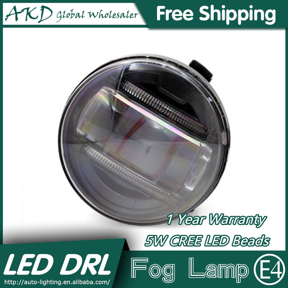 ФОТО AKD Car Styling LED Fog Lamp for Nissan Patrol DRL2008-2015 LED Daytime Running Light Fog Light Parking Signal Accessories
