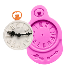 Clock Shape Cake Mold 3D Silicone Mold Fondant Resin Candy Mould Chocolate Jelly Decorating Tools Baking Tools DIY Wedding Cake