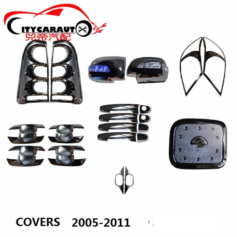 Chrome voiture style hottes lampe couvercle poignée couvercle bol couvercle réservoir accessoires auto adaptés pour hilux vigo 2006-2011