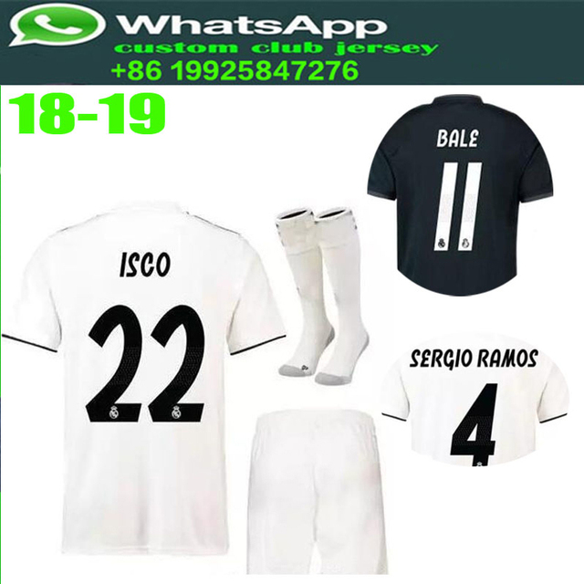 77f16dffc Best Quality 2018 Home Away Madrided Champions 18 19 Football Soccer Jersey  Realed 2019 For Mens T-Shirt Size Free Shipping