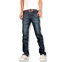 2017 New Jeans Men Casual Fashion Classical Male Denim Jeans Men Straight Male Scratched Blue Jeans Homme
