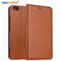 KEZiHOME pour ZTE Nubia Z9 mini cas Flip en cuir véritable doux silicon retour pour ZTE Nubia Z9 mini (5.0 pouce) couverture
