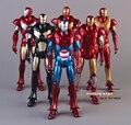 6 pçs/set Marvel Homem De Ferro 3 Mark 42 PVC Action Figure boneca de Brinquedo