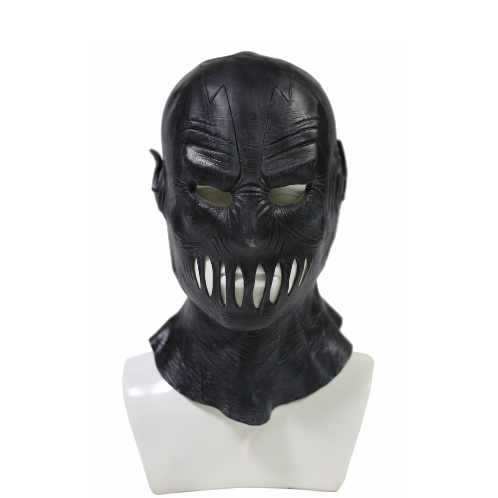 Coslive The Flash Season 2 Zoom Black Latex Mask Adult Cosplay Costume Props Full Head Helmet Face Masks For Halloween Festival