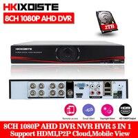 Многофункциональный 8CH 1080 P AHD TVI CVI NVR 5 In1 Hybrid DVR/1080 P видеорегистратор Регистраторы AHD DVR для/AHD/аналоговый Камера IP Камера