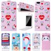 Fashion Cartoon Luxury up and down Stand Flip PU Leather Cover Plastic Back With Card Holders For XGODY D11 Case