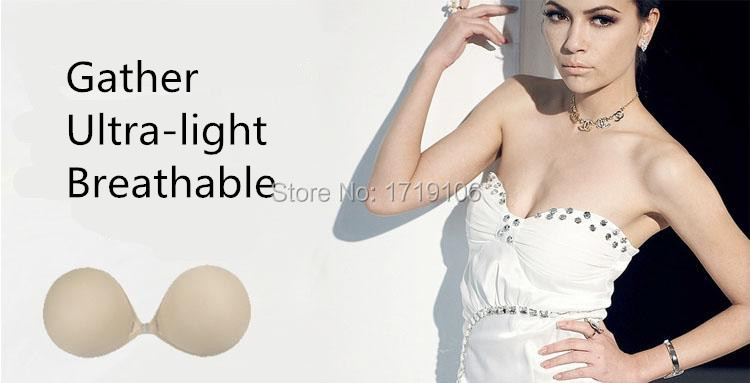 Sexy Adhesive Bra Backless Strapless Thicken Bras To Make Bigger Cups Seamless Invisible Bras For Women Wedding Party Underwear 3