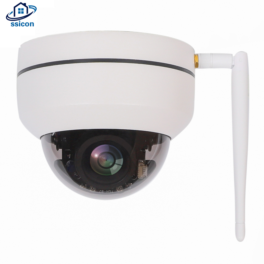 SSICON 1080P Mini PTZ Wifi Camera 3.6mm Fixed Lens Two Ways Audio Wireless Video Surveillance Dome IP CameraSSICON 1080P Mini PTZ Wifi Camera 3.6mm Fixed Lens Two Ways Audio Wireless Video Surveillance Dome IP Camera