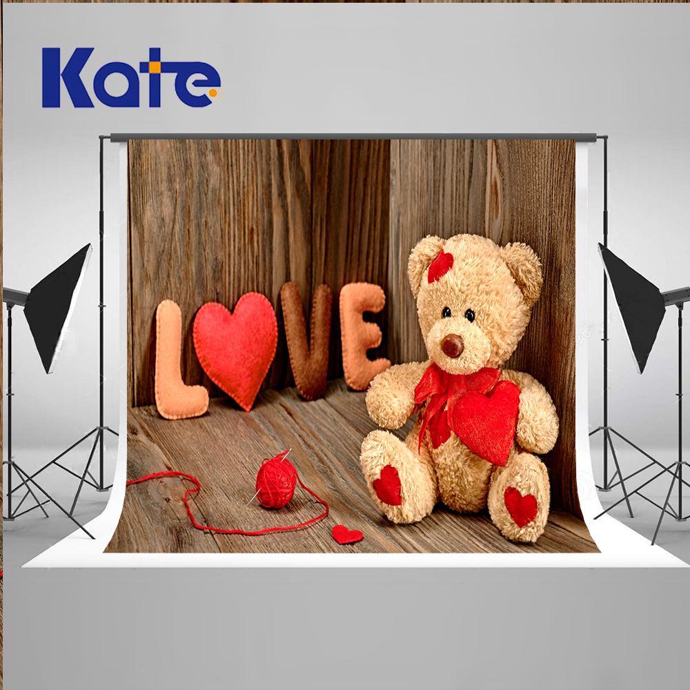 Kate Wedding Wooden Photography Backdrops Valentines Day Love You Backgrounds for Photo Studio Bear Backgrounds Photography Wood wg26 34 waterproof touch keypad access control card reader for rfid access control system f1688a