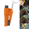 3 In 1 Car Window Breaker Seat Belt Cutter Survival Whistle Mini Car Emergency Safety Tool