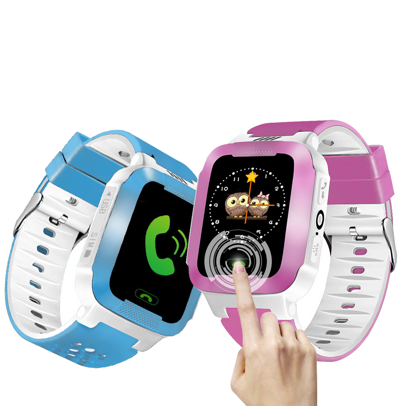 Baby Watch With Remote Camera SIM Calls Gift For Children Wristwatch Waterproof LBS Positioning 2G Network