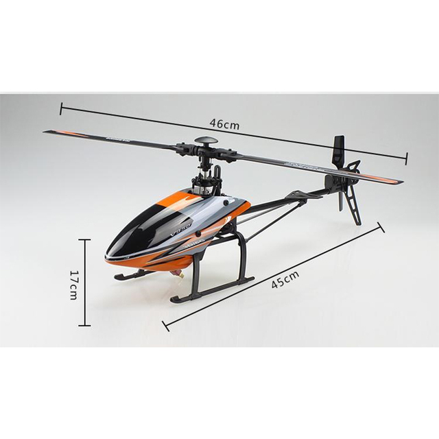 V950 Original WLtoys Grande Helicóptero com motor Brushless Sistema Brushless Flybarless RC Helicopter RTF 2.4G 6CH 3D6G