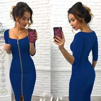 Club Low Cut Bodycon Dress