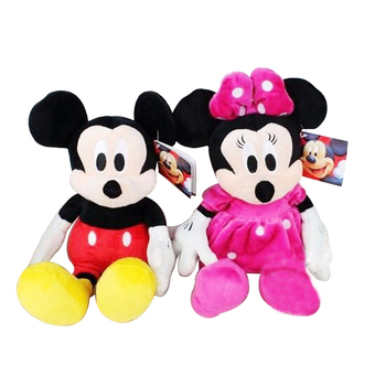 6pcs/lot 30cm Mickey Mouse Minnie Goofy Dog Pluto Dog Donald duck and daisy Kawaii Stuffed Funny Toys Cartoon Figure Kids Gift