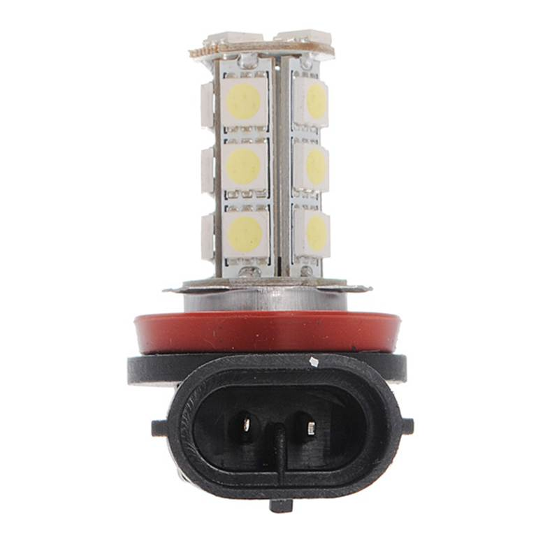 High Quality White H11 H8 18 LED 5050 SMD Car Auto Day Driving Fog Lights Headlight Lamp Bulb DC12V 12v led light auto headlamp h1 h3 h7 9005 9004 9007 h4 h15 car led headlight bulb 30w high single dual beam white light