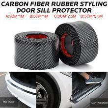 Adesivi per auto In Fibra di Carbonio di Gomma Per Lo Styling Porta di Protezione Del Bordo di Merci Per Hyundai Santa Fe i40 Creta Tucson HB20 ix20 ix25