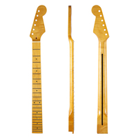 High quality 22 Fret Glossy Canadian Tiger Flame Maple Strat Guitar Neck with Abalone Shell Inlay Bone Nut for Stratocaster