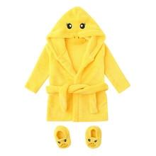 SAGACE/одежда для сна и халаты, детский халат для детей, детское полотенце, фланелевый Халат с капюшоном, одежда для сна+ обувь, комплекты, 19May28
