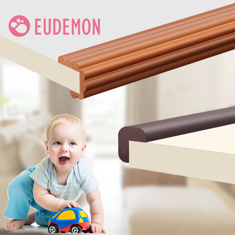 EUDEMON 2M Children Protection Table Guard Strip Baby Safety Products Glass Edge Furniture Horror Crash Bar Corner Protection