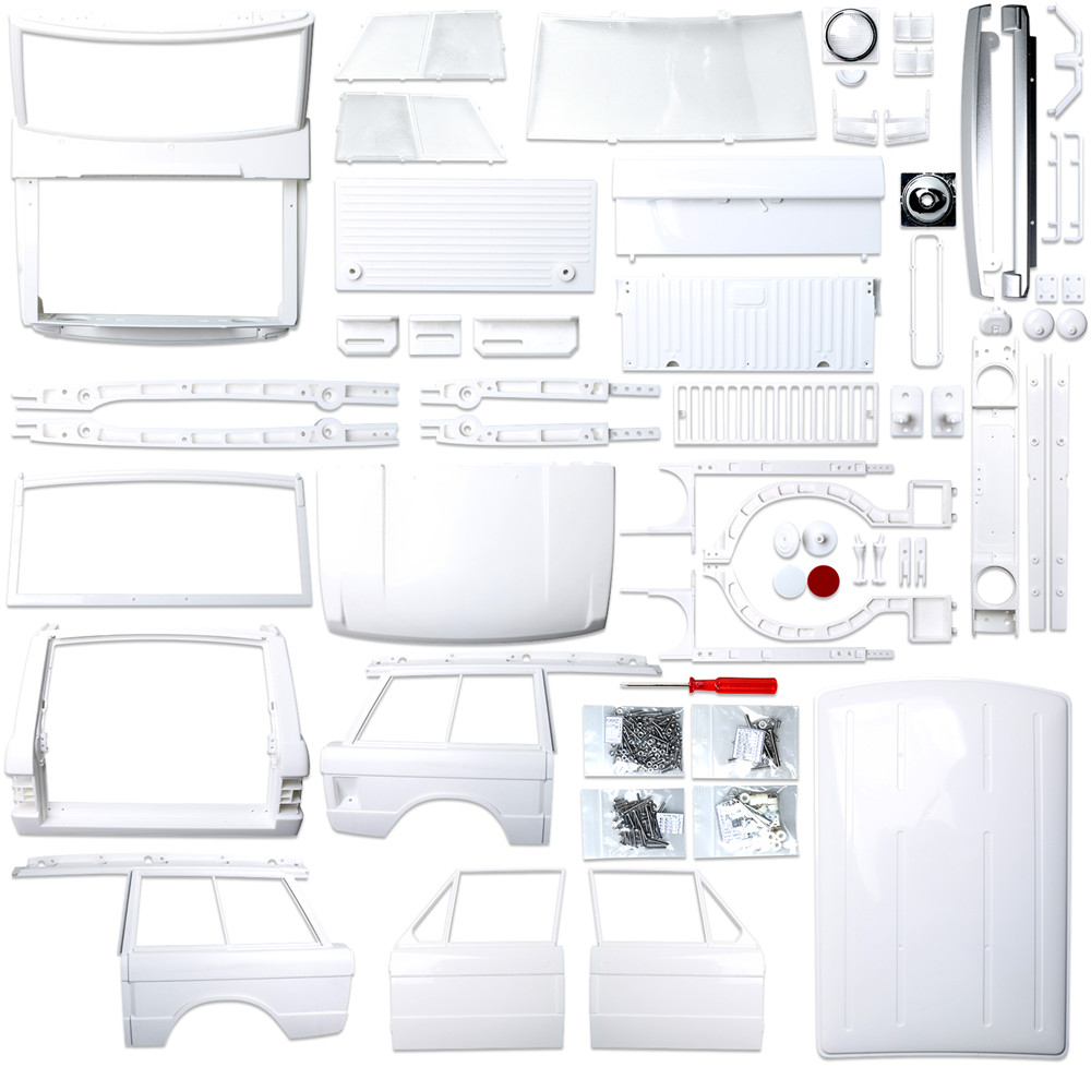 1/10 Scale Classic Range Rover Body Shell Kit 163mm*217mm*540mm Hard ABS Body Shell Set ( 313 mm WB ) Replacement Parts & Accessories     - title=