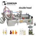 ZONESUN 1000-5000 мл горизонтальная полностью пневматическая двойная головка шампунь эфирное масло вода молоко разливочная машина